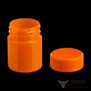ПЭТ банка БП 40 мл оранжевый цвет с крышкой