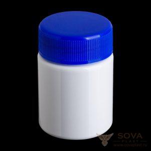 БП 50 мл белая с синей крышкой